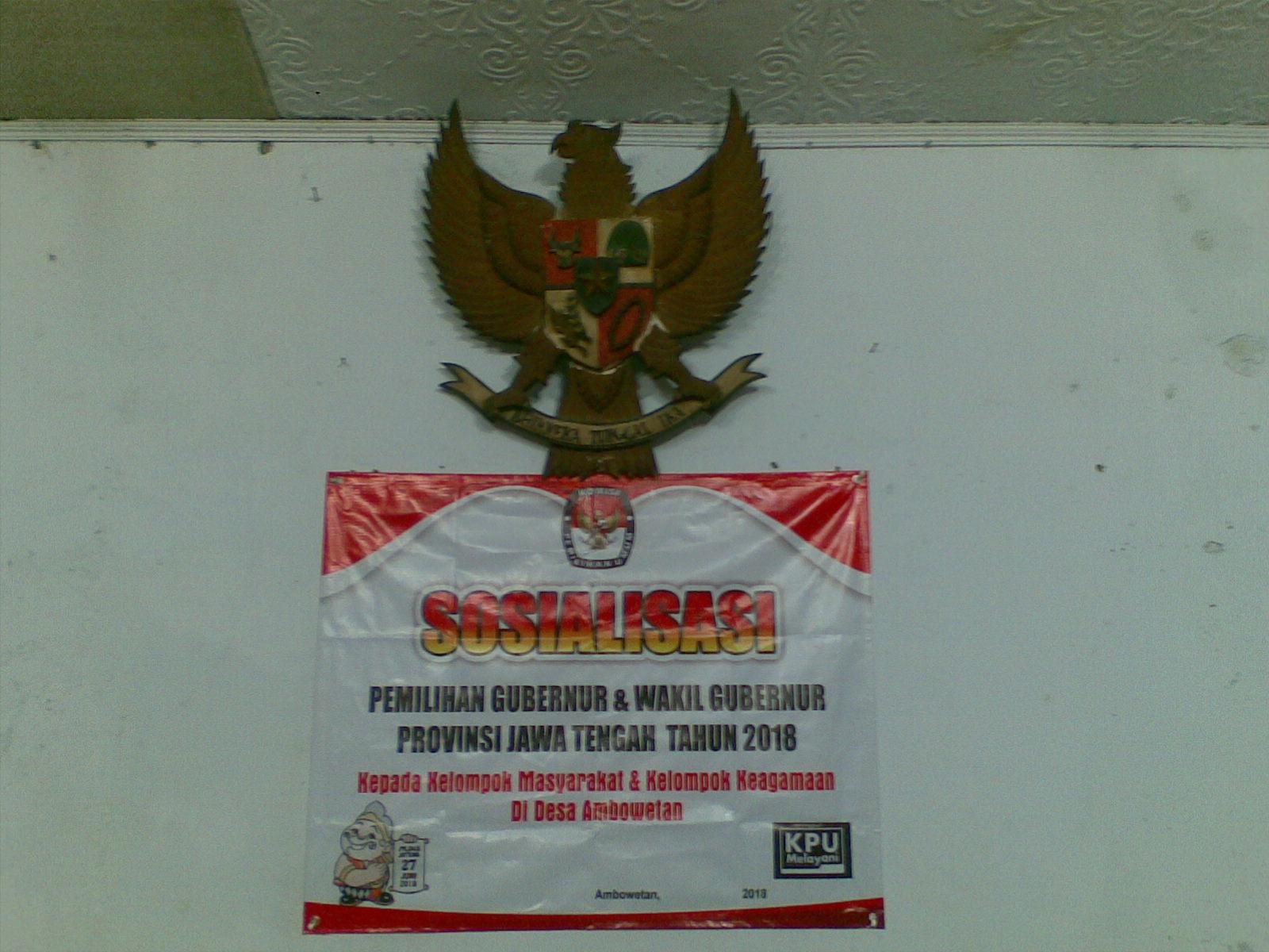 Sosialisasi Pemilihan Gubernur dan Wakil Gubernur Jawa Tengah 2018