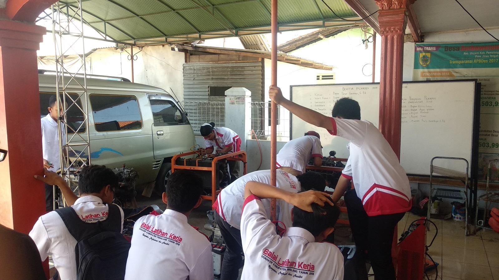 Pelatihan Montir Mobil Oleh BLK Kabupaten Pemalang